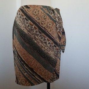 Wrap skirt | color block | vintage 8